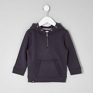 Mini - Marineblauwe hoodie voor jongens
