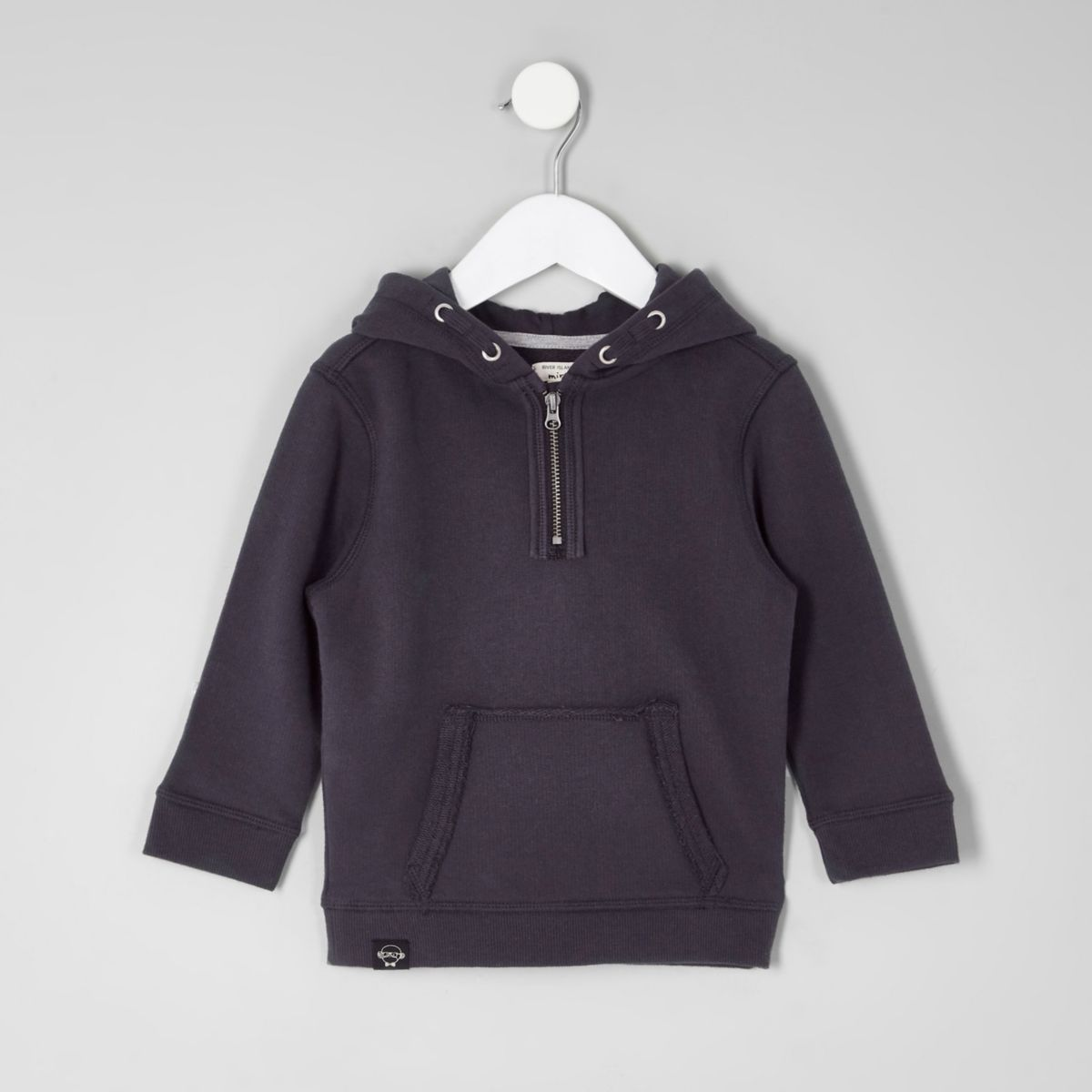 Mini boys navy zip hoodie