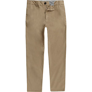 Boys light brown chino trousers