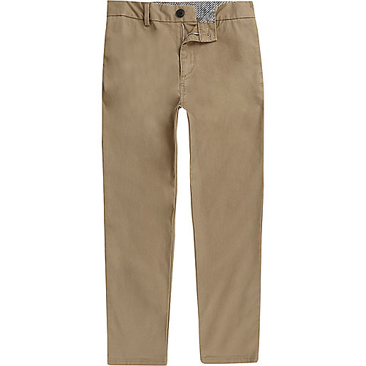 Boys light brown chino pants