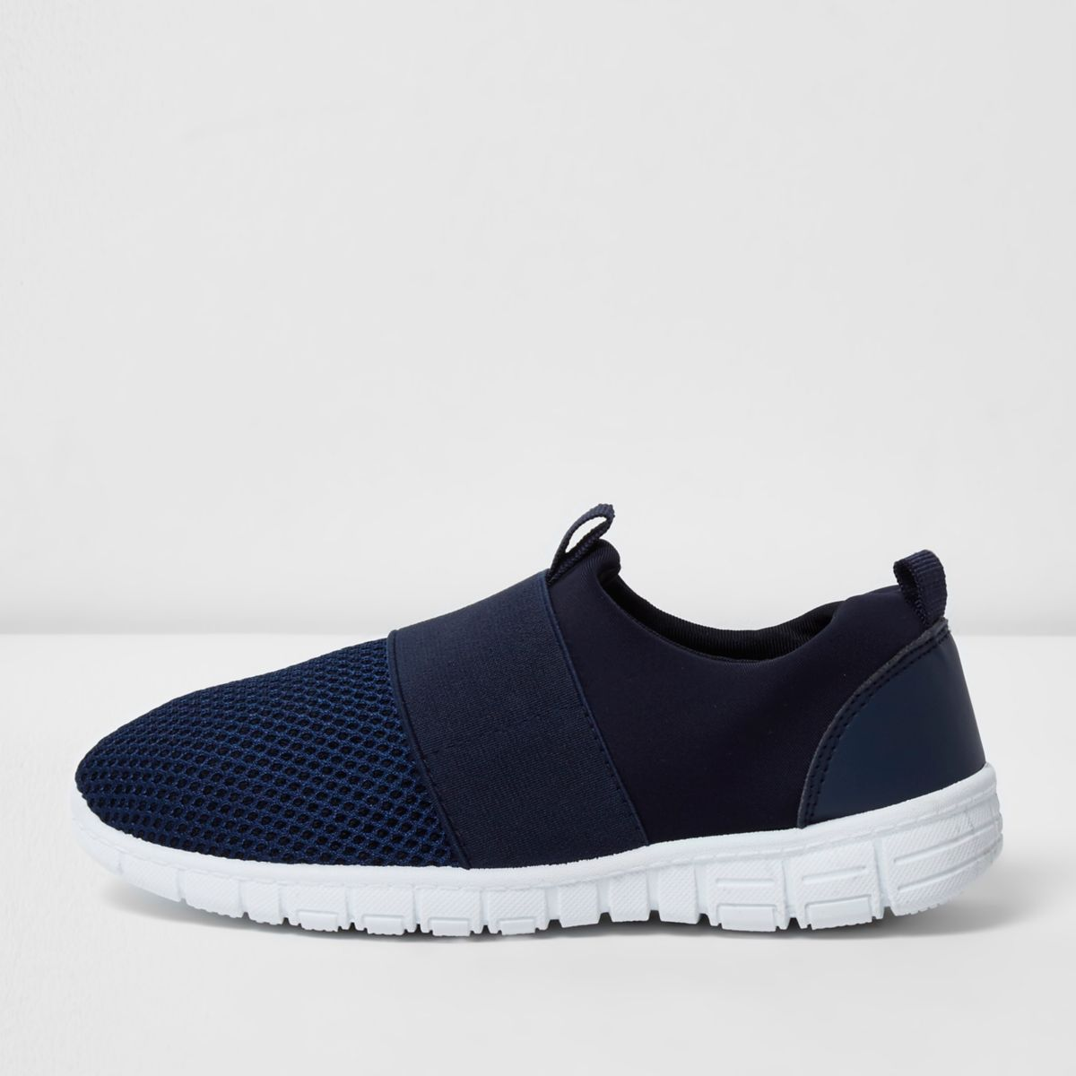Boys navy mesh runner sneakers
