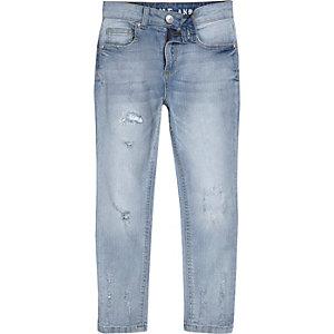 Sid - Lichtblauwe distressed skinny jeans voor jongens