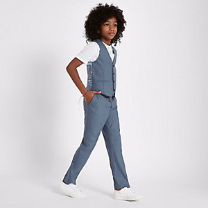 Gilet de costume bleu pour garçon