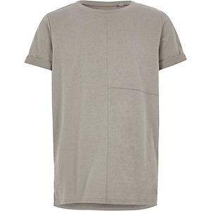 Boys grey seam detail T-shirt