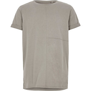 T-shirt gris à coutures apparentes garçon