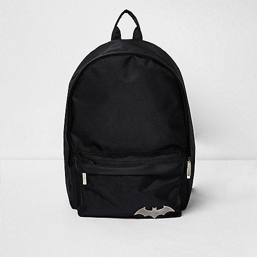 Boys black Batman backpack