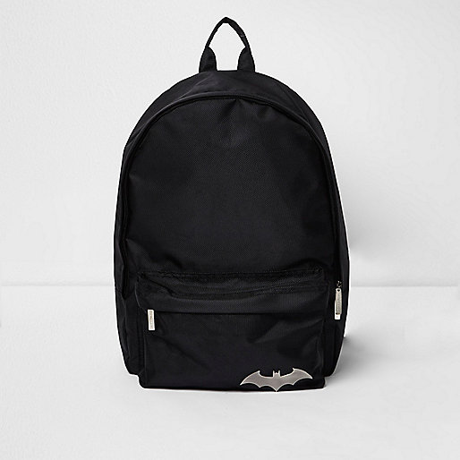 Boys black Batman backpack