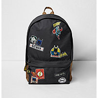 Boys grey 'Batman' comic print backpack