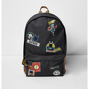Boys grey 'Batman' comic print backpack