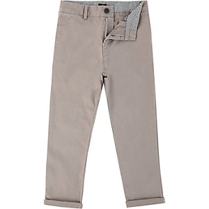 Boys grey chino trousers