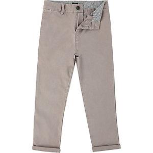 Pantalon chino gris pour garçon
