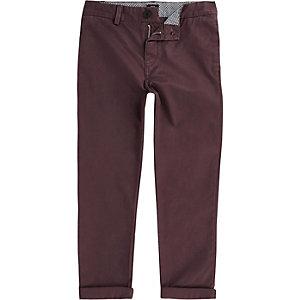 Pantalon chino bordeaux pour garçon