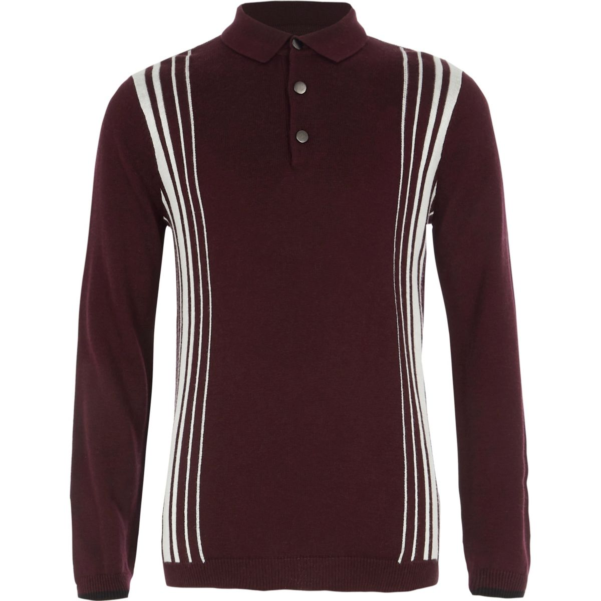 Boys burgundy stripe long sleeve polo shirt polo shirts Burgundy polo shirt boys