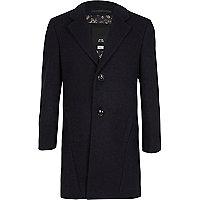Boys navy tailored overcoat