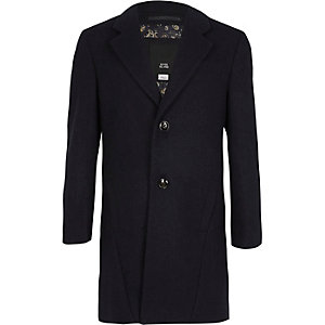 Manteau cintré bleu marine garçon
