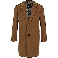 Boys camel tailored overcoat