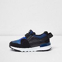 Mini boys blue camo insert runner sneakers