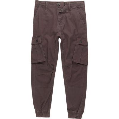 River Island Pantalon cargo gris foncé garçon