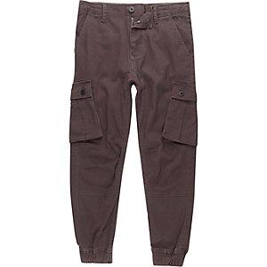 Pantalon cargo gris foncé garçon