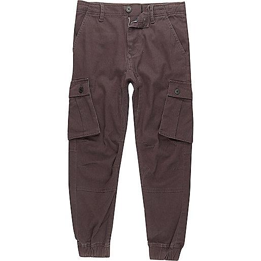 Boys dark grey cargo pants