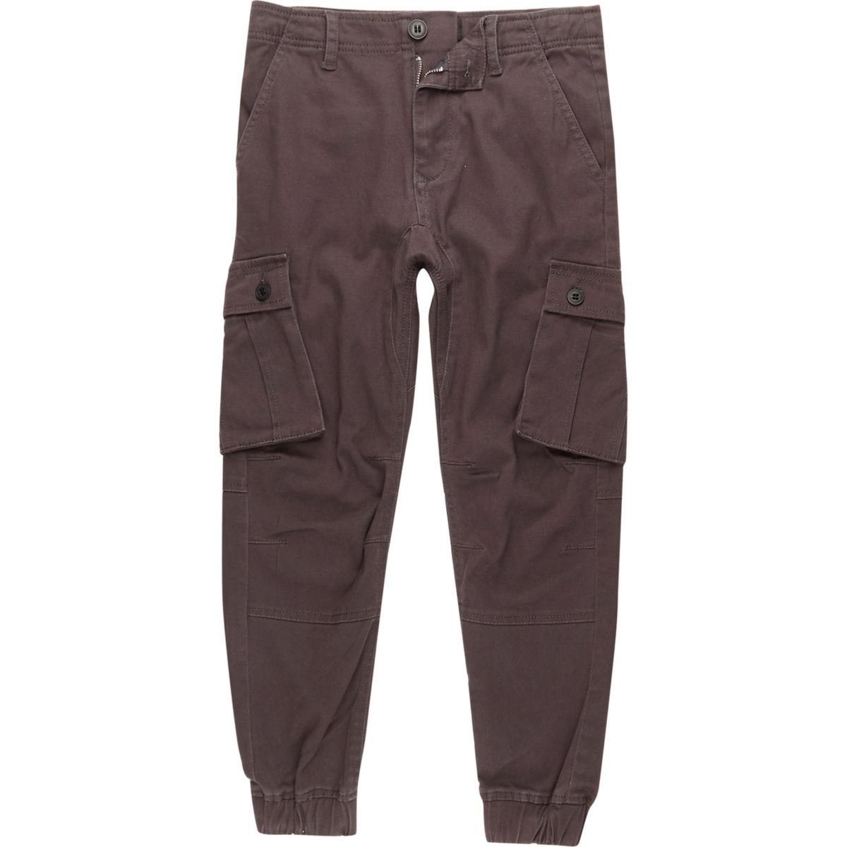Boys dark grey cargo pants
