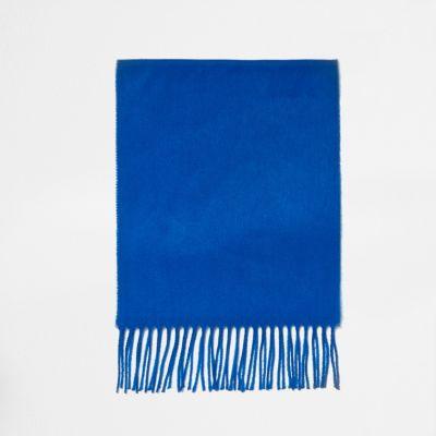 River Island Écharpe bleu cobalt pour garçon - Description Tissu tissé Galons frangés