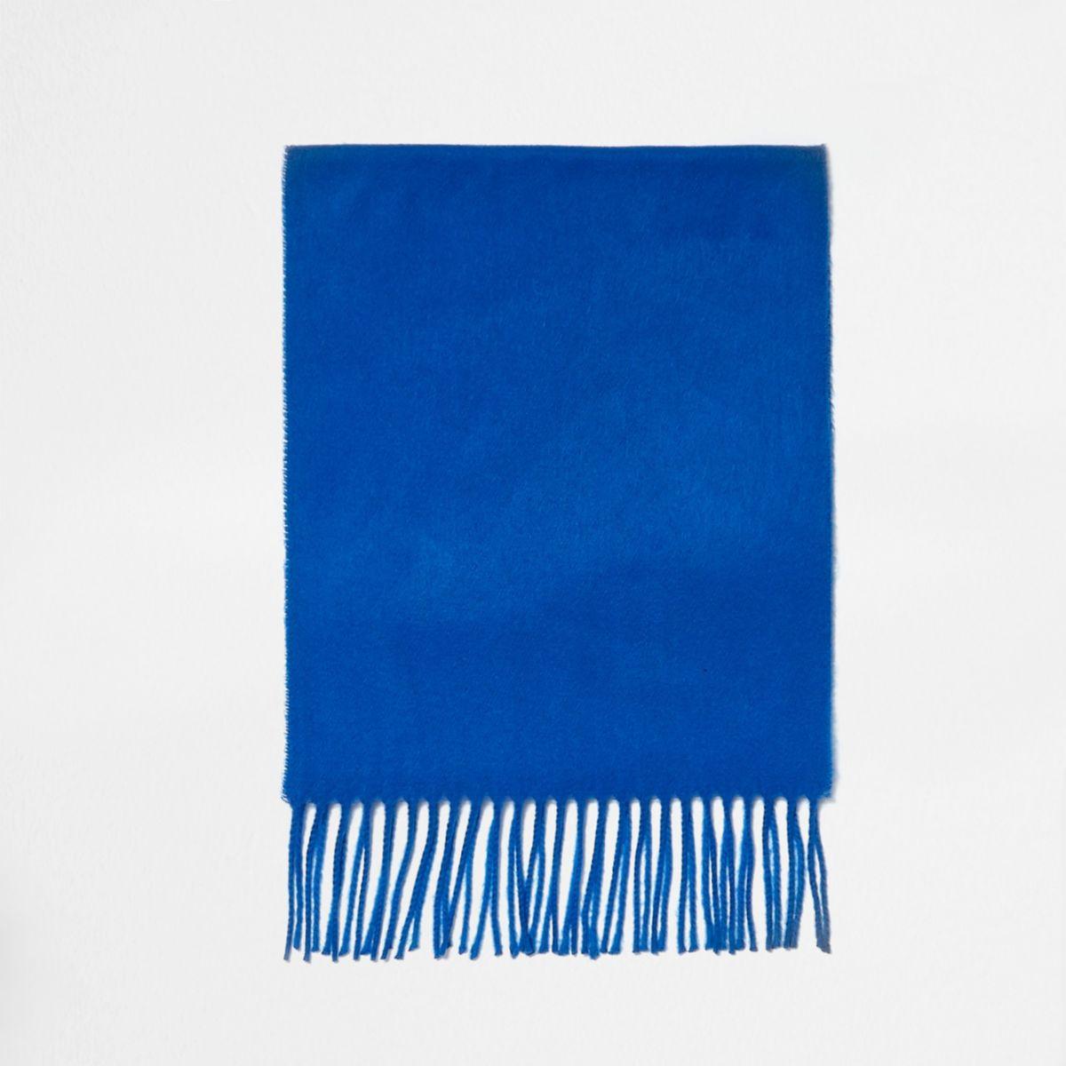 Écharpe bleu cobalt pour garçon