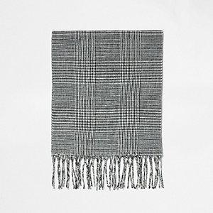 Grijze geruite sjaal voor jongens
