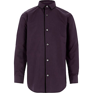 Boys purple tipped long sleeve shirt