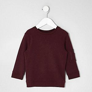 Sweatshirt in Bordeaux mit Tasche