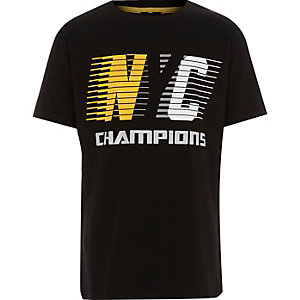 Boys black 'NYC champions' T-shirt