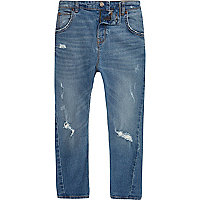 Boys blue ripped Tony slouch jeans