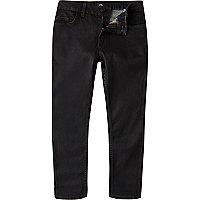 Boys black coated Sid skinny jeans