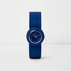 Boys blue snap on watch
