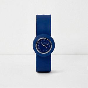 Blauw horloge met druksluiting voor jongens