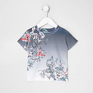 T-shirt à imprimé fleurs et serpent mini garçon