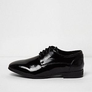 Boys black RI Studio patent smart shoes