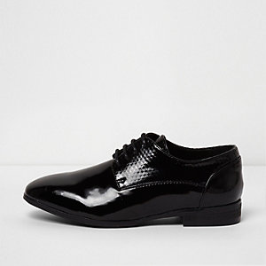 Boys black RI Studio patent smart shoes