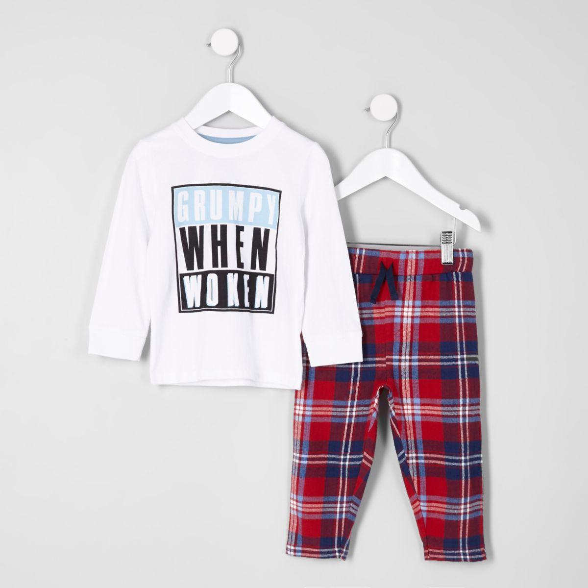 Mini boys 'grumpy when woken' pajama set