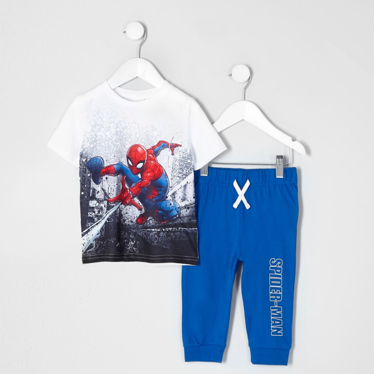 Mini boys blue Spider-Man pajama set