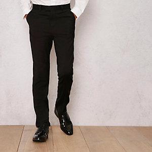 RI Studio – Pantalon habillé en laine mélangée noir pour garçon