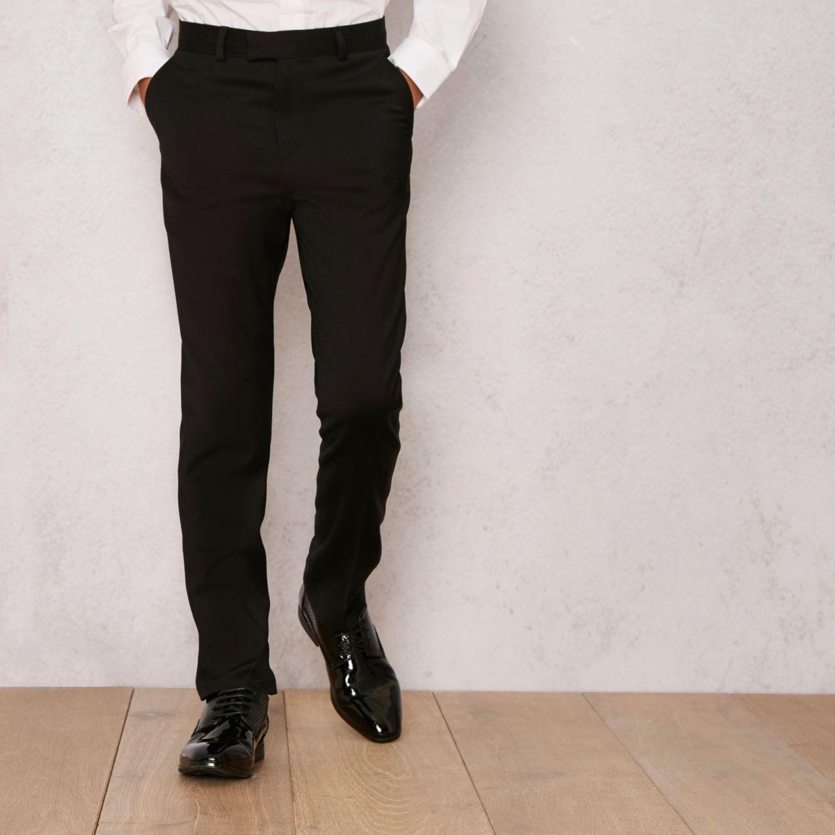 Boys black RI Studio wool mix smart trousers