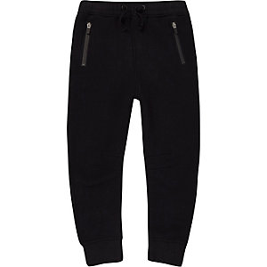 Boys navy zip pocket joggers