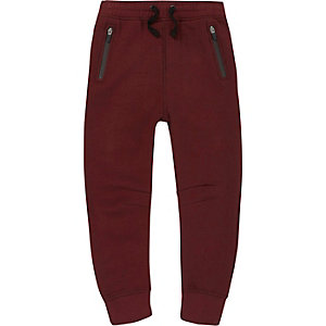 Boys dark red scuba joggers