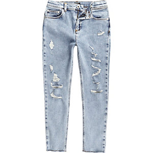 Boys light blue Sid ripped skinny jeans