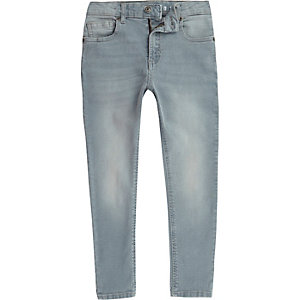 Light blue wash Sid skinny jeans voor jongens