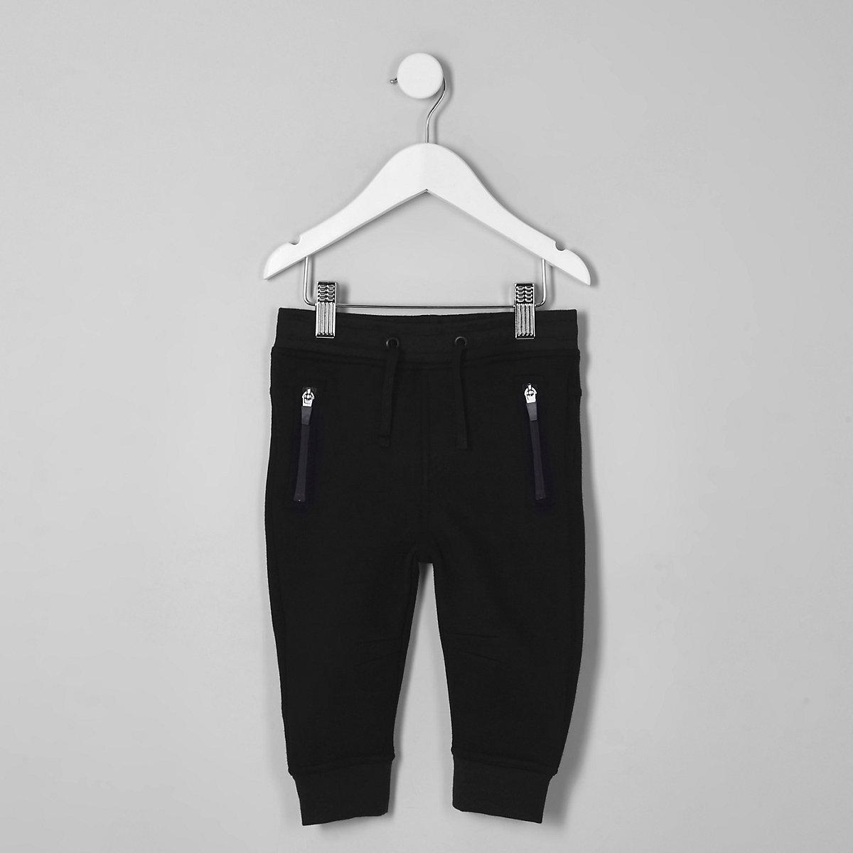 Mini boys navy zip pocket joggers