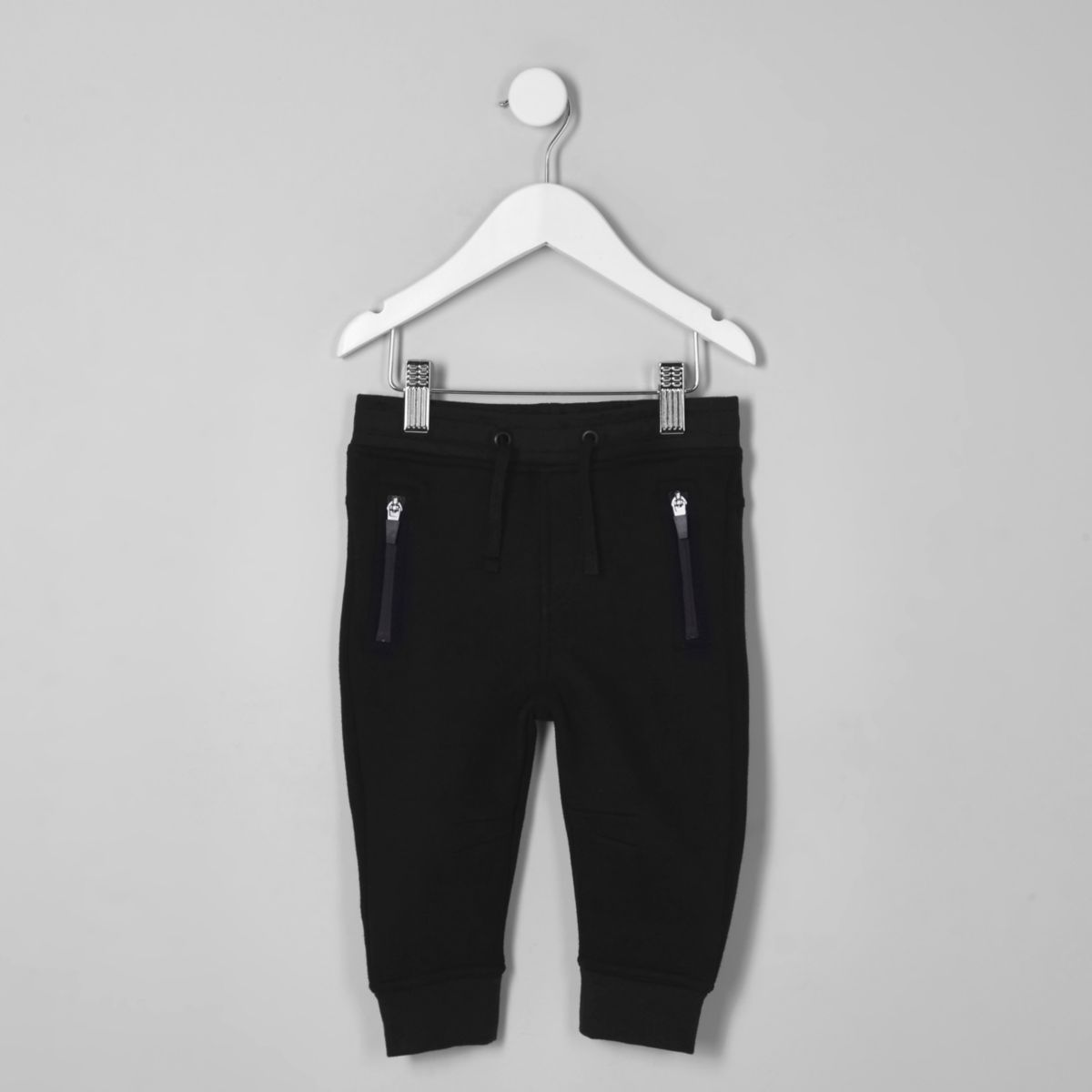Mini boys navy zip pocket joggers