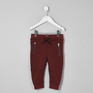 Mini boys dark red scuba joggers