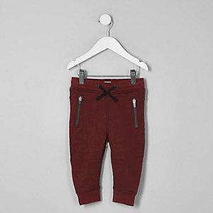 Mini - Donkerrode scuba joggingbroek voor jongens